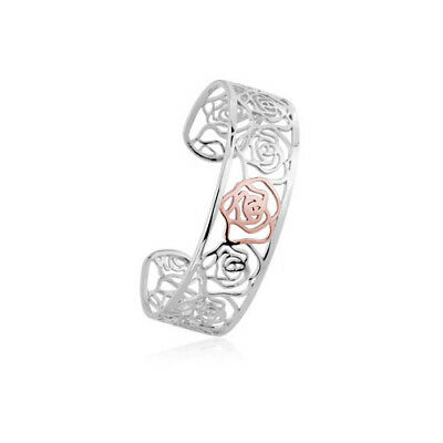 BRAND NEW Official Clogau Gold Silver & Rose Gold Royal Roses Bangle £140 off!