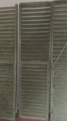 Vintage French Shutters - two pairs in gorgeous petrol blue