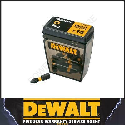 DeWalt DT70618T Torsion 25mm 15 Pack Pz2 Pozi Hex Impact Driver Screwdriver Bits