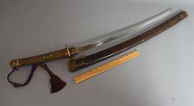 Antique Authentic Japanese Officers WWII Wakizashi Sword & Knot