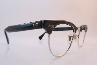 Vintage 50s white gold filled eyeglasses frames S.R.C. Size 44-20 USA 1/10-12K