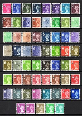 N.IRELAND REGIONALS SUPERB MNH RANGE x 61 STAMPS 2.5p TO 64p VALUES FACE = £12+