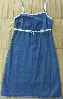 508eaf13a OLD NAVY Women's Juniors Spaghetti Straps Denim Floral Semi-Fitted Dress,  Size 1