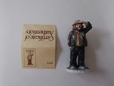 """'EMMETT KELLY, JR'-#10001 - """"LOOKING OUT TO SEE"""" -by FLAMBRO-  w/signed initials"""