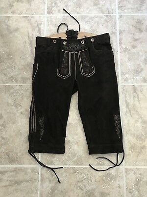Authentic Kruger Baum German Genuine Leather Traditional Pant Octoberfest