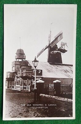 Littlehampton    Old Windmill    Casino    Sussex    Rp   Vintage Postcard