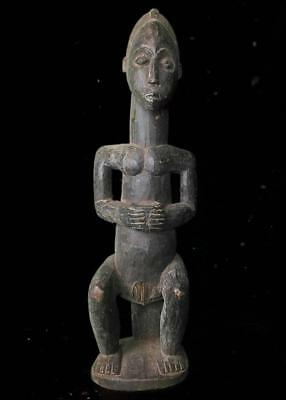 Beautiful Tribal Large Fang Ancestor  Figure        --  Gabon