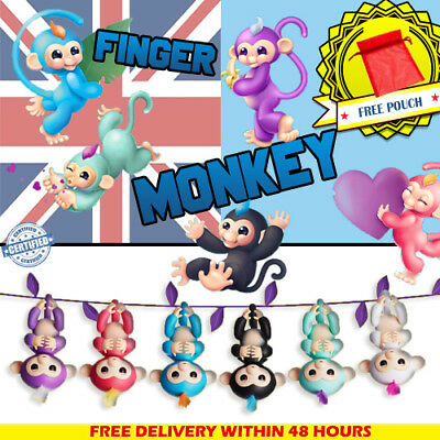 Fingerlings Electronic Happy Baby Monkey Gift Interactive Fun Toy Pet Xmas Kids
