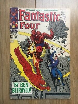 FANTASTIC FOUR # 69 Marvel Comic (December 1967)