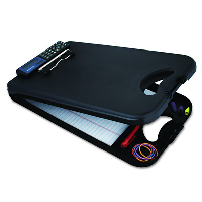 Saunders Black DeskMate II Plastic Storage Clipboard with Calculator - Letter...
