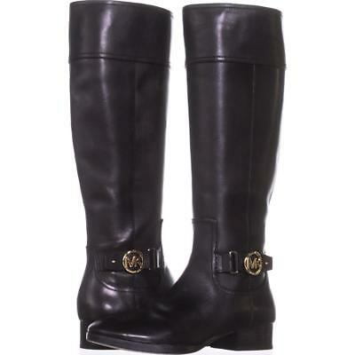 64dc86719 Michael Kors Harland Riding Boots, Black, Gold Hardware Size 8 US / 38.5 EU