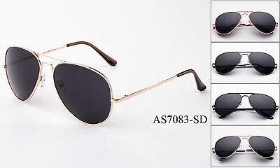 Aviator Dark Lens Sunglasses Top Gun Flight Pilot Classic Metal Frame Glasses