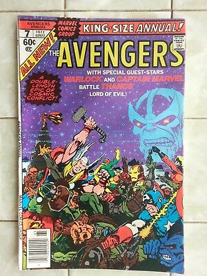 Avengers Annual # 7 / Thanos / Warlock / Captain Marvel / Gamora - JIM STARLIN