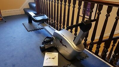 Striale rowing machine, used, good condition. Black and silver.