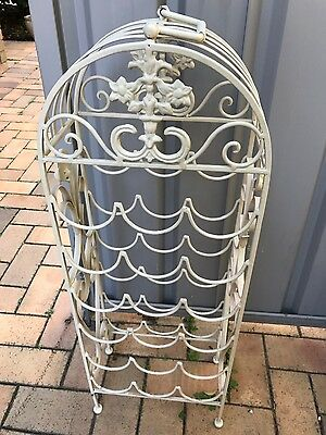 iron cast wine rack antique