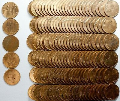 Many Dates Great Britain Penny Rolls Choice Bu 6 Roll Lot 150 Coins Total