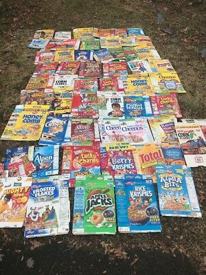 Vintage cereal Box Collection