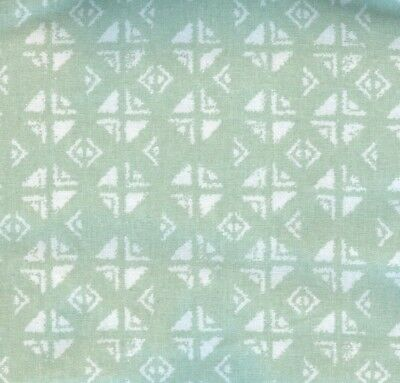 Threshold Sage Block Print Shower Curtain
