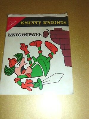Vintage NABISCO CEREALS (Knutty Knights) STICKER (unused)