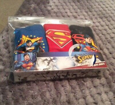 Boys 3 Pack Superman Briefs / Underpants 18-24 Mths. BNIP