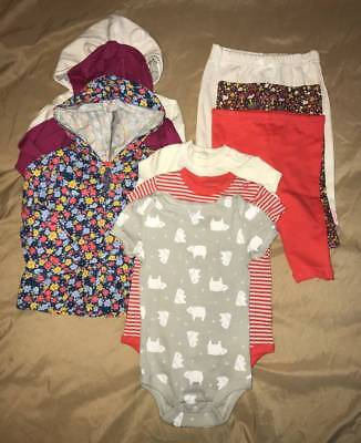 9pc Infant Girls Fall/Winter Clothing Lot - Size: 3-6 months (NWT)