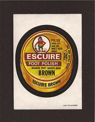 1973 OPC Wacky Packages Series 4 ESCUIRE FOOT POLISH