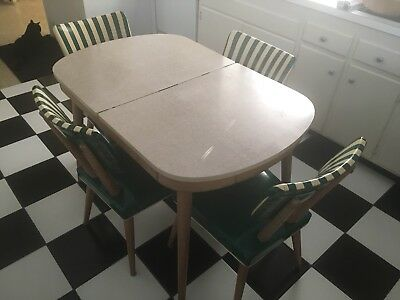 Vintage mid century Mod Eames Era Meier Pohlmann modern kitchen table & 4 chairs