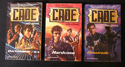 Complete Cade Series Lot 3 Mike Linaker Sci Fi Police Mens Adventure Gold Eagle