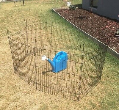 """36"""" 8 Panel Pet Playpen Portable Exercise Cage Fence Dog Puppy Rabbit Play Pen"""