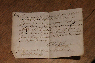 1747 signed stamped royal notary letter Nice signing