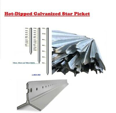 Hot-dipped galvanized Y star picket . Multi Length