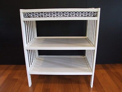 Baby changing Table White 2 shelves