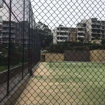 2.4mm Height Black PVC Coated Chain Link Wire Mesh Fence in Various Length