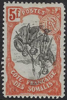 SOMALI COAST 1909 5 FRANCS Sc 79 INVERTED CENTER