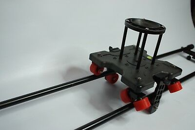 Roller Dolly Video Slider 4ft Track Rail with Rubber Wheels