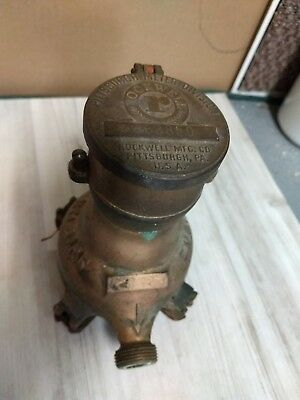 Vintage Pittsburgh Meter Co Rockwell Solid Brass Water Meter Antique