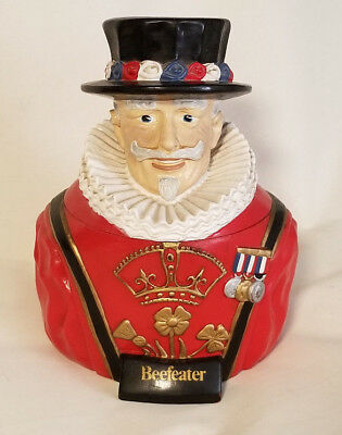 Vintage BEEFEATER Gin Ice Bucket Red Plastic Man with Hat - includes insert