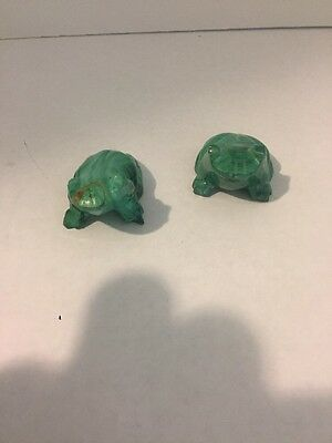 2 SMALL FROG Figurines, Unsure Of Material