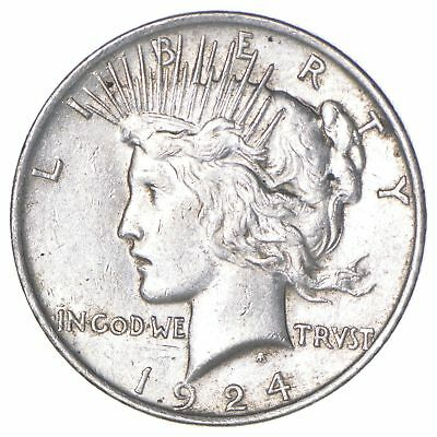 1924 US Peace Silver Dollar - 90% Pure Silver *680