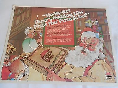 Pizza Hut Placemat Santa Pizza To Go Care Bears On Back Unused 1987