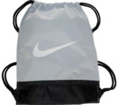 1e646493ce Nike Brasilia Training Gymsack Drawstring Backpack Pure Platinum White  Swoosh