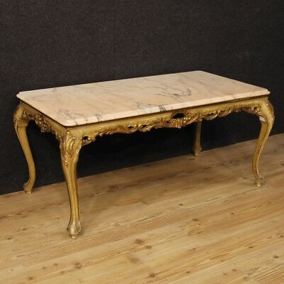 Small table golden furniture table living room venetian wood lacquered marble