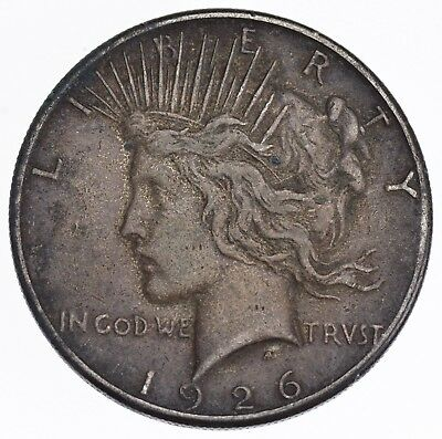 Early - 1926-S - Peace Silver Dollar - 90% US Coin *015