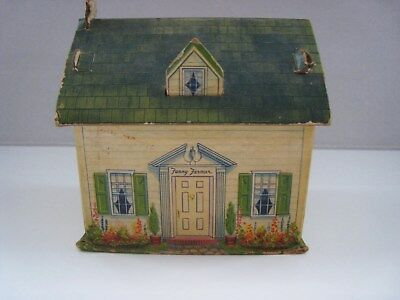 Vintage 1930's-40 Fanny Farmer Cottage House Litho Candy Container Box