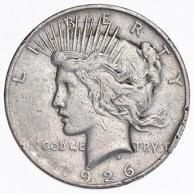 Early - 1926-D - Peace Silver Dollar - 90% US Coin *011