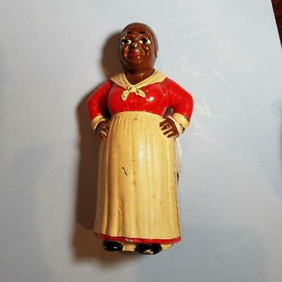 Vintage Cast Iron Aunt Jemima Mammy With Hands On Hips Bank M176 $250