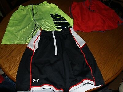 Lot Of 3~Mens~Under Armour~Nike Dri Fit~Athletic Shorts~Gym~S~Running Training