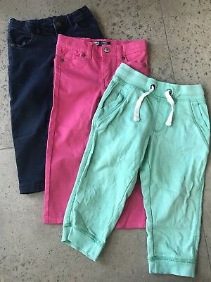 3 x Pairs Girls Pants Size 2