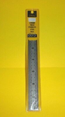 "General Tools CF-676 6"" Stainless Steel Rule 8th's 16th's 32nd 64th Machinist US"