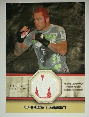 2011 Topps UFC Moment of Truth Fighter Gear Relic #FG-CL Chris Leben Card 37/88